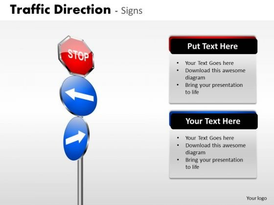 Business Framework Model Traffic Direction Signs Sales Diagram