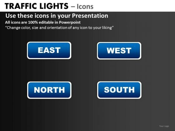 Business Framework Model Traffic Lights Icons Business Diagram