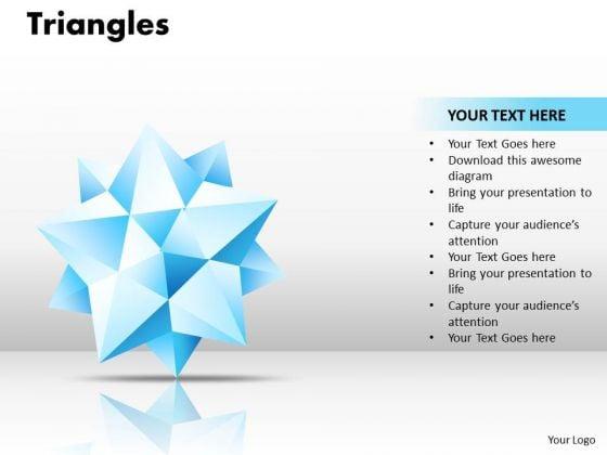 Business Framework Model Triangles Strategy Diagram