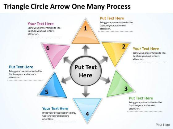 Business Framework Model Triganle Circle Arrow One Many Process Strategy Diagram