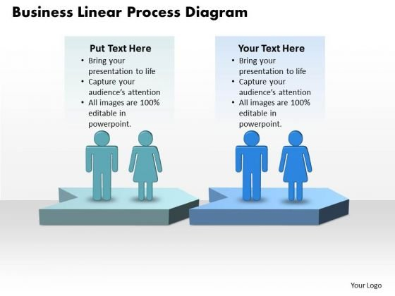 Business Linear Process Diagram