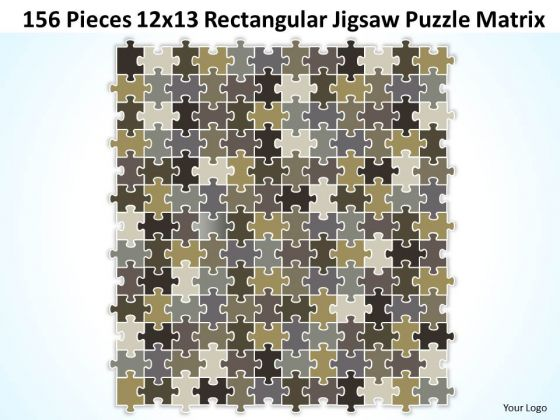 Consulting Diagram 156 Pieces 12x13 Rectangular Jigsaw Puzzle Matrix Strategy Diagram