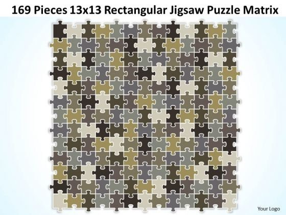 Consulting Diagram 169 Pieces 13x13 Rectangular Jigsaw Puzzle Matrix Strategy Diagram