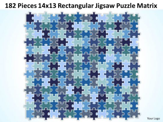 Consulting Diagram 182 Pieces 14x13 Rectangular Jigsaw Puzzle Matrix Strategy Diagram