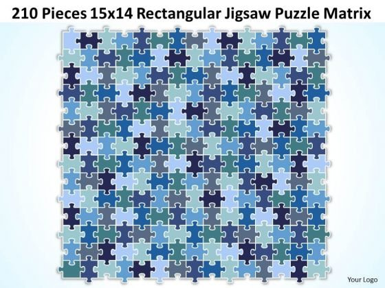 Consulting Diagram 210 Pieces 15x14 Rectangular Jigsaw Puzzle Matrix Strategy Diagram