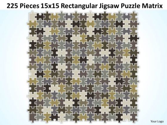 Consulting Diagram 225 Pieces 15x15 Rectangular Jigsaw Puzzle Matrix Strategy Diagram