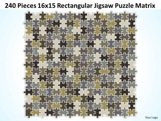 Consulting Diagram 240 Pieces 16x15 Rectangular Jigsaw Puzzle Matrix Strategy Diagram