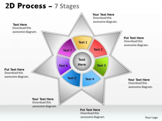 Consulting Diagram 2d Business Process Diagram With 7 Stages Strategic Management