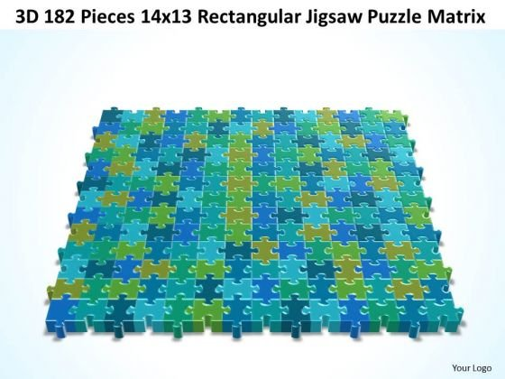 Consulting Diagram 3d 182 Pieces 14x13 Rectangular Jigsaw Puzzle Matrix Strategy Diagram