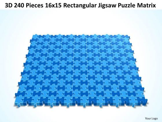 Consulting Diagram 3d 240 Pieces 16x15 Rectangular Jigsaw Puzzle Matrix Strategy Diagram
