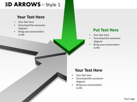 Consulting Diagram 3d Arrows Styli Business Cycle Diagram