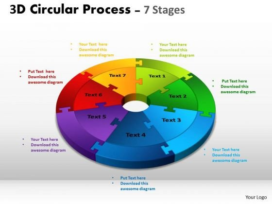 Consulting Diagram 3d Circular Process Cycle Diagram Chart 7 Stages Marketing Diagram