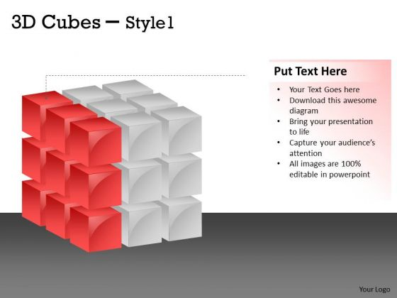 Consulting Diagram 3d Cubes Style 1 Design Strategy Diagram