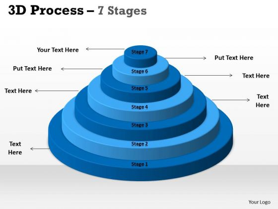 Consulting Diagram 3d Process 7 Stages With Circular Design Business Cycle Diagram