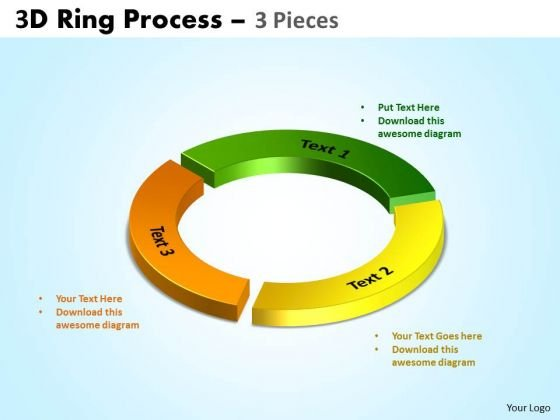 Consulting Diagram 3d Ring Process 3 Pieces Marketing Diagram