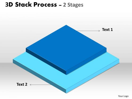 Consulting Diagram 3d Stack Process For Business Sales Diagram