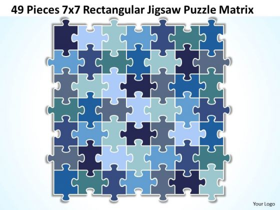 Consulting Diagram 49 Pieces 7x7 Rectangular Jigsaw Puzzle Matrix Strategy Diagram