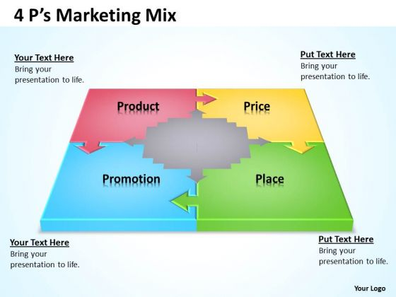 Consulting Diagram 4 Ps Marketing Mix 2 Business Diagram