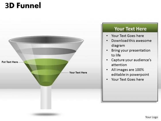 Consulting Diagram 4 Staged Business Funnel Process Business Cycle Diagram