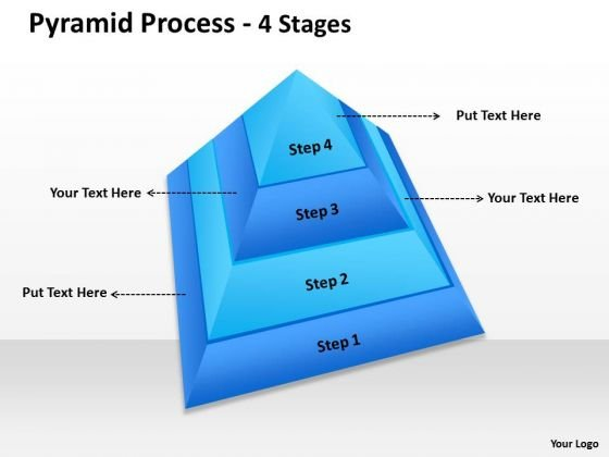 Consulting Diagram 4 Staged Pyramid With Top View Strategy Diagram