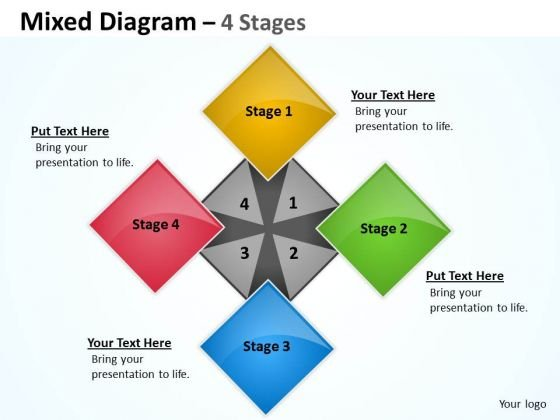 Consulting Diagram 4 Stages For Business Strategy Business Cycle Diagram