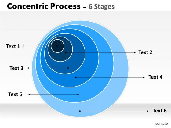 Consulting Diagram 6 Staged Concentric Diagram Strategic Management
