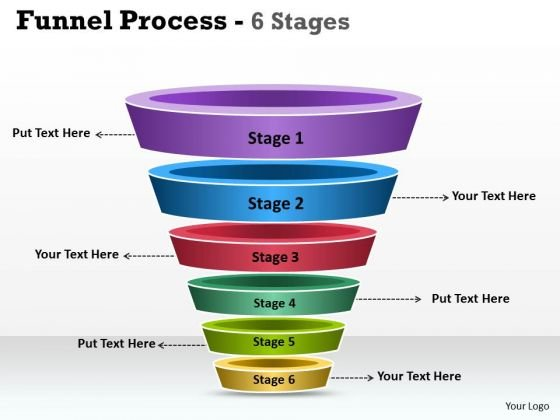 Consulting Diagram 6 Staged Funnel Process Diagram Strategy Diagram