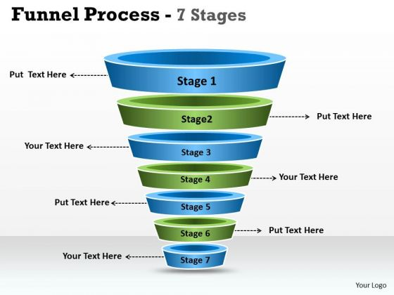 Consulting Diagram 7 Staged Business Funnel Diagram Strategy Diagram