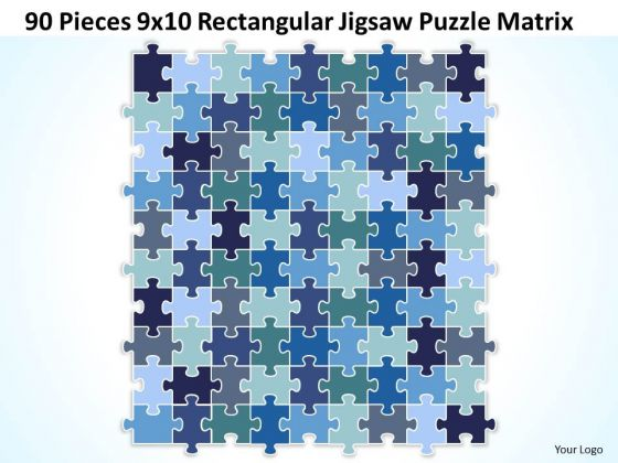Consulting Diagram 90 Pieces 9x10 Rectangular Jigsaw Puzzle Matrix Strategy Diagram