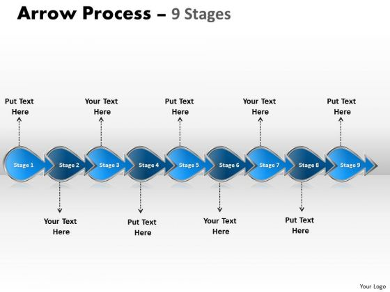 Consulting Diagram Arrow Process 9 Stages Mba Models And Frameworks