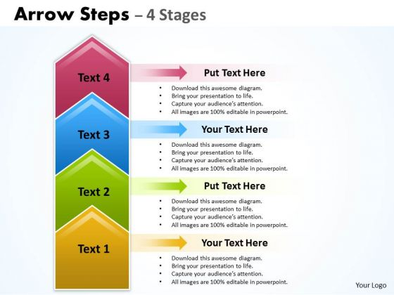 Consulting Diagram Arrow Steps 4 Stages Strategy Diagram