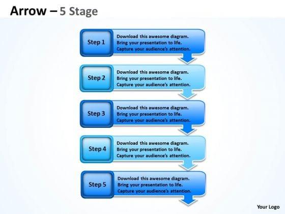 Consulting Diagram Arrows Diagram 5 Stages Sales Diagram