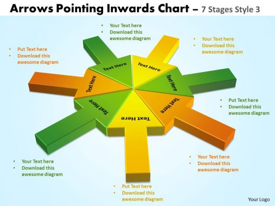 Consulting Diagram Arrows Pointing Inwards Chart 7 Stages Style 3 Strategic Management
