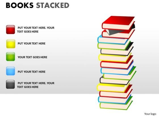 Consulting Diagram Books Stacked Strategic Management