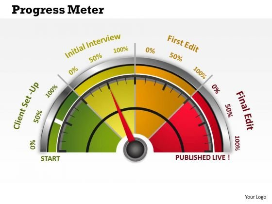 Consulting Diagram Business Dashboard Progress Meter Business Diagram