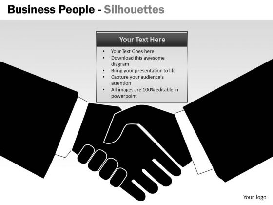 Consulting Diagram Business People Silhouettes Mba Models And Frameworks