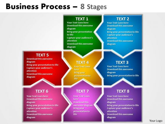 Consulting Diagram Business Process 8 Stages Markeing Diagram