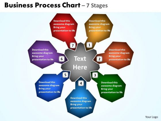 Consulting Diagram Business Process Chart 7 Stages Strategy Diagram