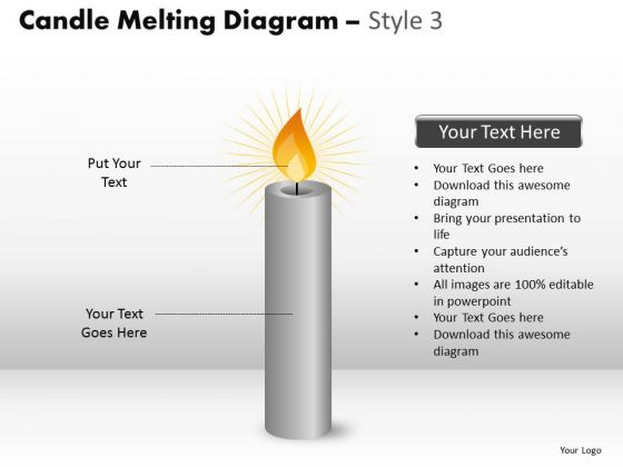 Consulting Diagram Candle Melting Diagram Style 3 Business Diagram
