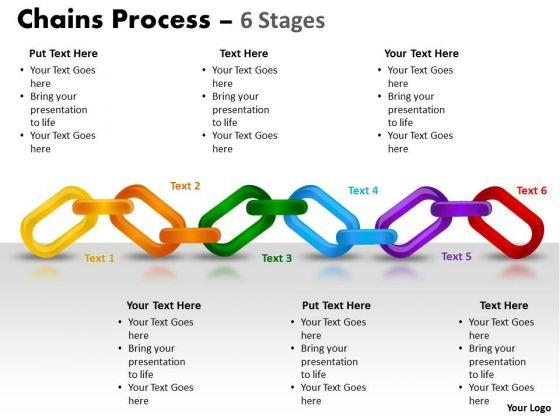 Consulting Diagram Chains Process 6 Stages Strategic Management