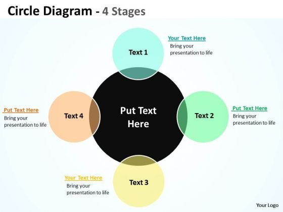 Consulting Diagram Circle Diagram Flow Stages 4 Business Cycle Diagram