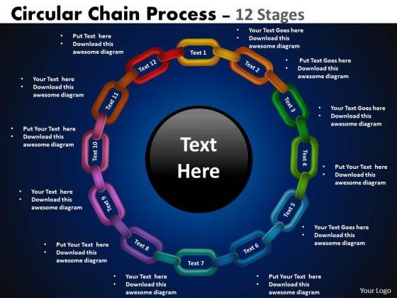 Consulting Diagram Circular Chain Flowchart Process Strategy Diagram