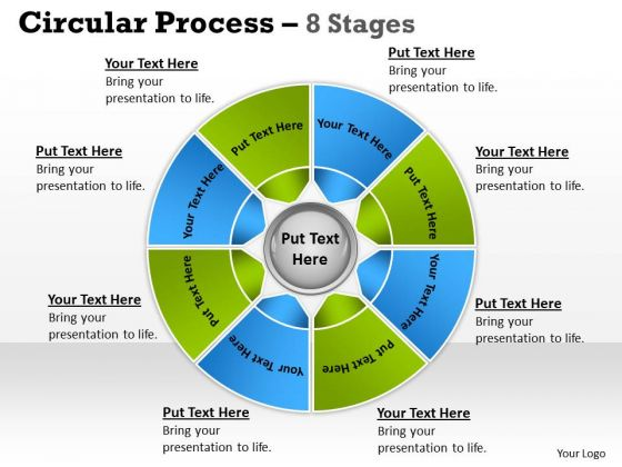 Consulting Diagram Circular Process 8 Stages Strategy Diagram
