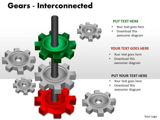 Consulting Diagram Gears Interconnected Sales Diagram