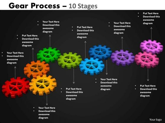 Consulting Diagram Gears Process 10 Stages Strategy Diagram