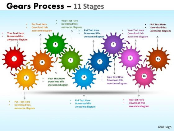 Consulting Diagram Gears Process 11 Stages Mba Models And Frameworks