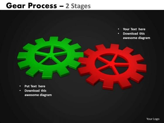Consulting Diagram Gears Process 2 Stages Style Strategy Diagram
