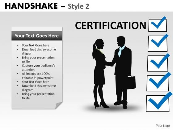 Consulting Diagram Handshake Style 2 Business Framework Model