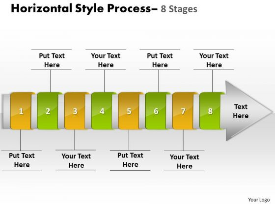 Consulting Diagram Horizontal Style 8 Stages Strategy Diagram