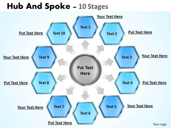 Consulting Diagram Hub And Spoke 10 Stages Sales Diagram